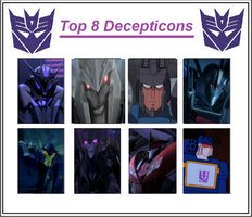 Onyx's Top 8 Decepticons by OnyxLeaderRogue-177