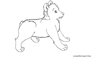 Free Bear Lineart by Super-Chey