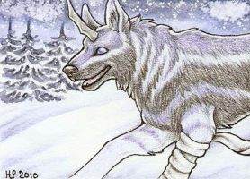 ACEO Trade: Neverending Winter by Agaave