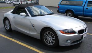 White BMW Z4 Convertable Car 2 by FantasyStock