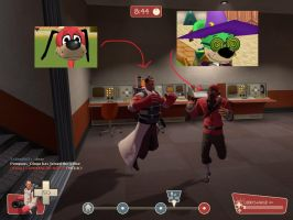 Some Toontown nerds playing TF2 by Jeremy-the-Blockhead