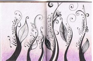 Sketch Journal Entry - The Moving Pencil by Sya