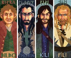Hobbit Bookmarks 01 by shinigami714