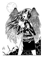 Black Angel Yearning by Daystorm