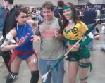 At Awesome Con with Savage Land Psylocke and Rogue by SJRT