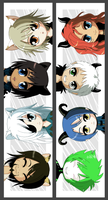 Chibi Lamento Bookmarks by MorphineRx