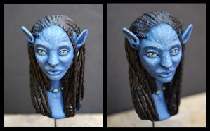 Neytiri's bust painted 2 by valhadar