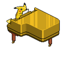 Pianist Pikachu by TheBestNightmareEver