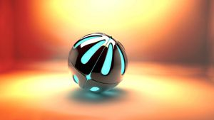 3D Armour Ball + Glowing core in Lightroom by cytherina