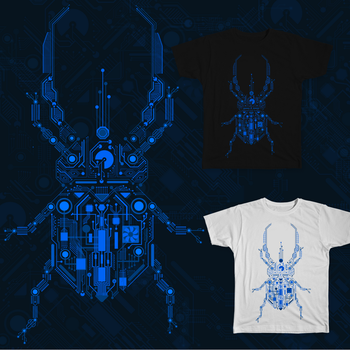 T-SHIRT DESIGN Electronic Lout Beetle by Dobrotek