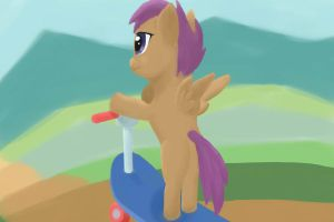 Scootaloo's Long Road by JimTheCactus