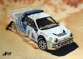 Ford RS200 Rally Car by Artbyantero