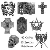 42 Celtic PS Brushes by Spyderwitch