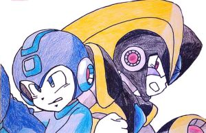 Megaman and Bass by Zookey64