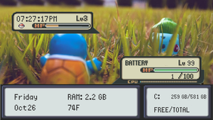 Pokemon Battle Theme Rainmeter by Dswizle