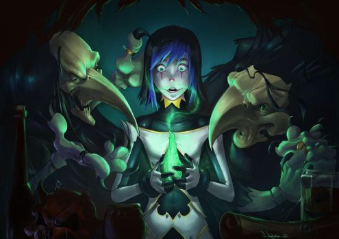 Nevermore:_Sophie_and_The_Raven_Sisters by zombie-ninja