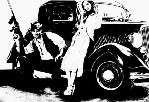 Bonnie And Clyde by djdyme