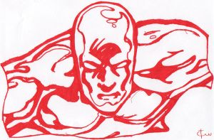 The Silver Surfer In Red by ison-trade