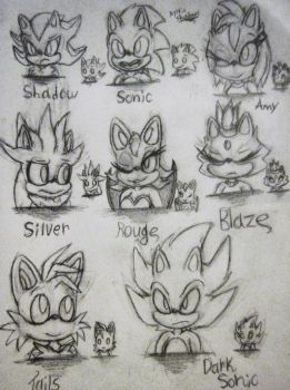 Just Character drawings... by Mystic-Shadows
