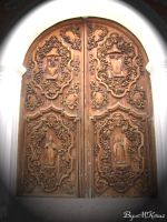 Door of San Agustin Church by murky-otaku