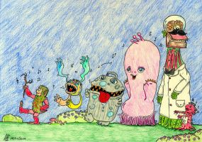 March of the Monsters  What Monster bit you by Group-of-carol-15