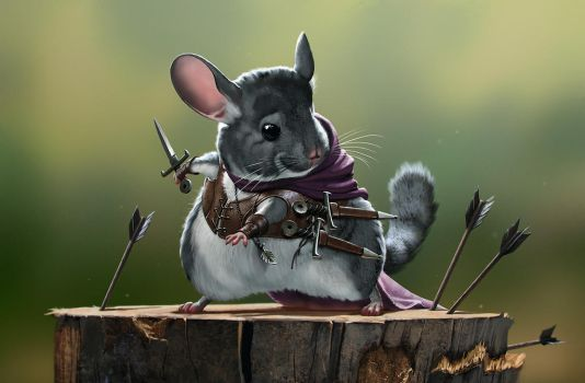 The Rodents - Assassin Chinchilla by priapos78