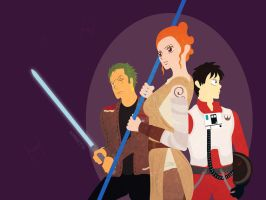 One Piece and Star Wars VII - Resistance by Kagito