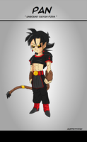 Pan Unbound saiyan form Commission by Moffett1990