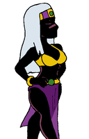 Old Drawing - Duck Dodgers Martian Queen by Shabazik