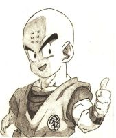 Krillin traditional by ErrGerGer
