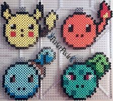 Pokemon Ornaments by PerlerPixie