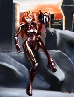 IronAsuka02 by OneManDraw