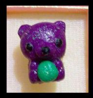 Purple bear ring by AnaInTheStars
