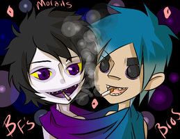 Cigarette: Gamzee and 2-D by Zombay-Senpai