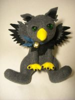 Grey Gryphon Plushie by Ghost-Apple