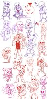Undertale Doodles #4 by Guuchama