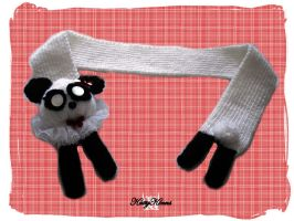 Panda Girl Scarf by Cateaclysmic