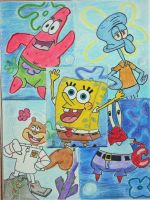 Spongebob and Friends by the-sashimi-frog
