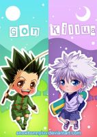 Hunter x Hunter bookmarks by snowbunnyluv