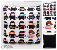 "Ninja ""Casual Friday"" Pillow by ChannelChangers"