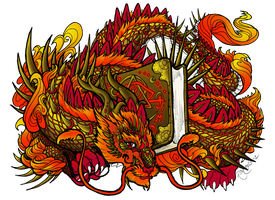 Wyrm of the Book of Fire and Metal by Elephantfreak