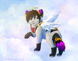 In the clouds (YCH) by CascadingSerenity