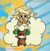 Madilyn Shewt and Whimsicott by Pokeaday