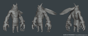 Demon Guy WIP by MrNinjutsu