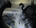 Storm Serpents by animalartist16