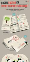 SocialFactor Print Templates Package Vol.01 by kh2838