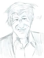 life sketch of the third doctor by nicoflare