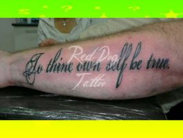To thine.... by Reddogtattoo