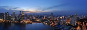 Singapore - Panorama II by AlHabshi