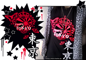 I Love Tokyo Shirt by QuistisNoir